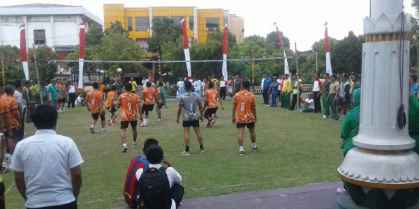 Final Lomba Volly di halaman pemkab klaten 2017